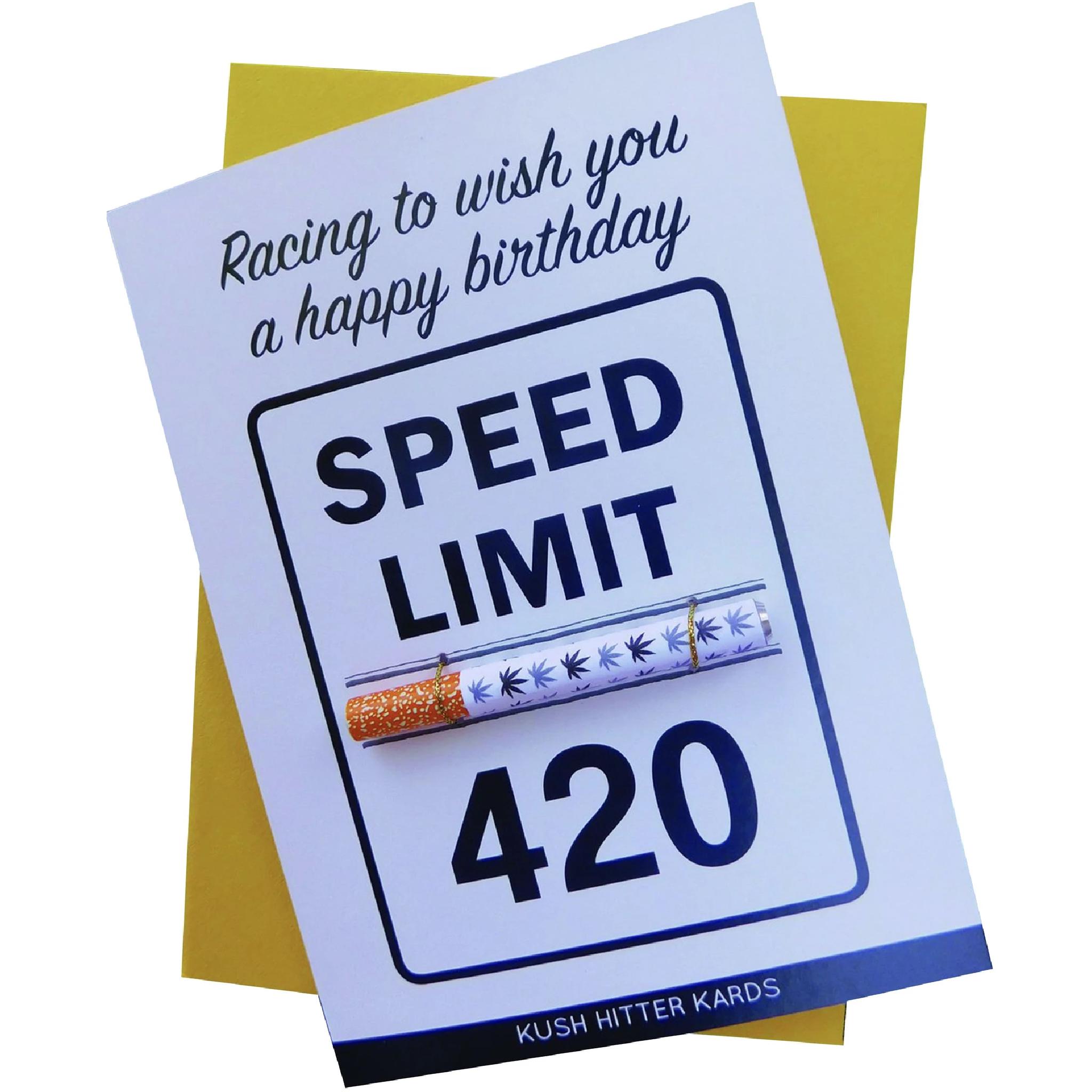 KushKard Speed Limit 420 Card + One Hitter