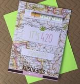 KushKard 420 Somewhere Card + One Hitter