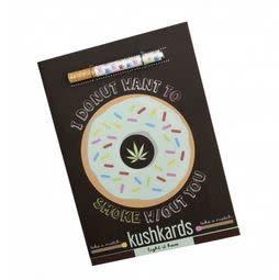KushKard I Donut Want to Smoke W/O You Card + One Hitter