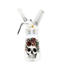 1/2 Pint Aluminum Dispenser Floral Skull