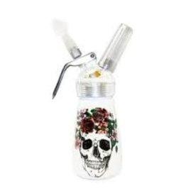 1/2 Pint Aluminum Dispenser Floral Skull