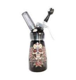 1/2 Pint Aluminum Dispenser Skull & Pistols