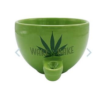 Wake & Bake Ceramic Cereal Bowl Pipe