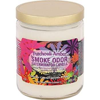 SMOKE ODOR Candle Patchouli Amber