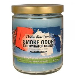SMOKE ODOR Candle Clothesline Fresh