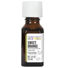 AURA CACIA Sweet Orange Essential Oil 0.5 fl. oz.