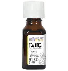 AURA CACIA Tea Tree Essential Oil 0.5 fl. oz.