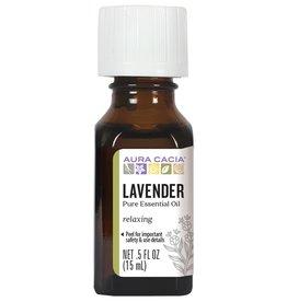 AURA CACIA Lavender Essential Oil 0.5 fl. oz.