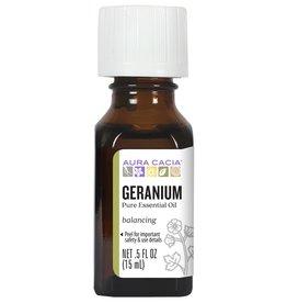 AURA CACIA Geranium Essential Oil 0.5 fl. oz.