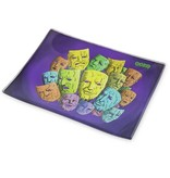 OOZE Shatter Resistant Glass Rolling Tray Mood Swings Small