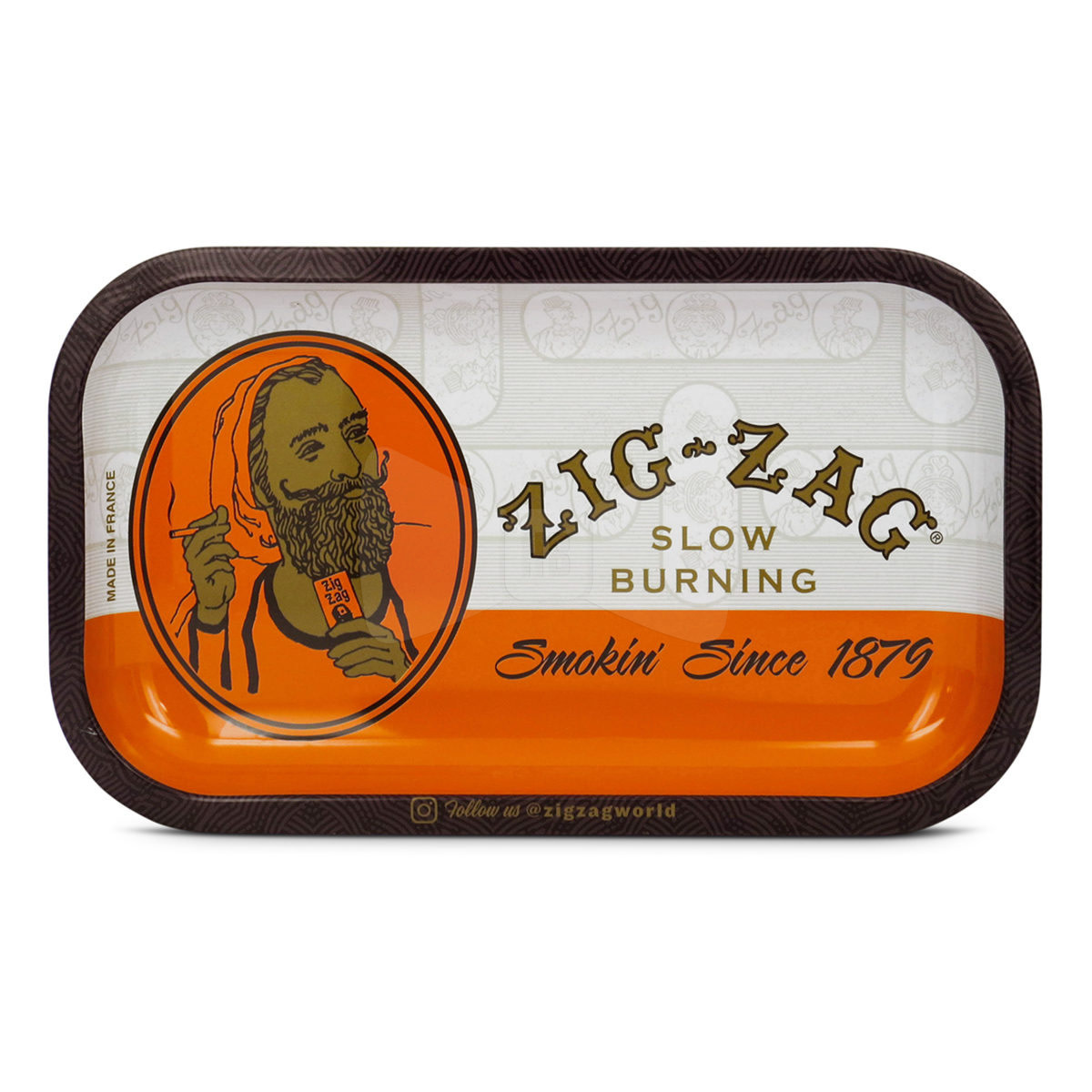 Zig Zag Rolling Tray Orange