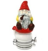 Contained Art Porcelain Jar 250ml Smoking Gnome