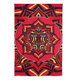 SJ 3D Tapestry Red Sun Face