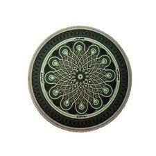 "Dab Pad 5"" Round Green Mandala"