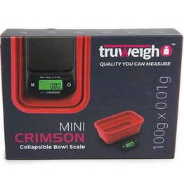 Truweigh Mini Crimson Collapsible Bowl Scale 100g x.01g - Black / Red