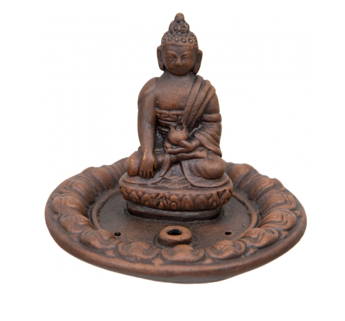 Clay Incense Holder Medicine Buddha