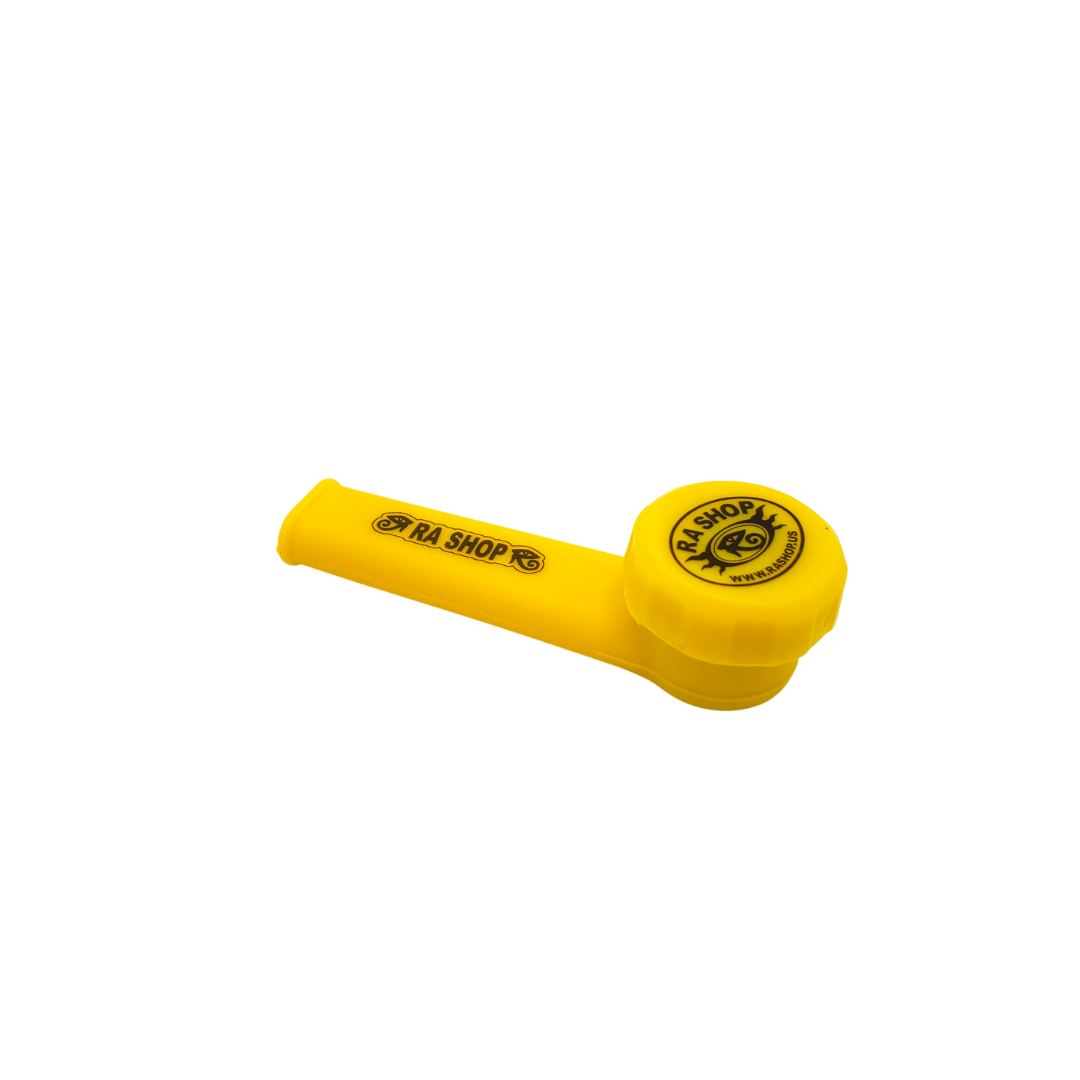 RA SHOP Silicone Hand Pipe Yellow