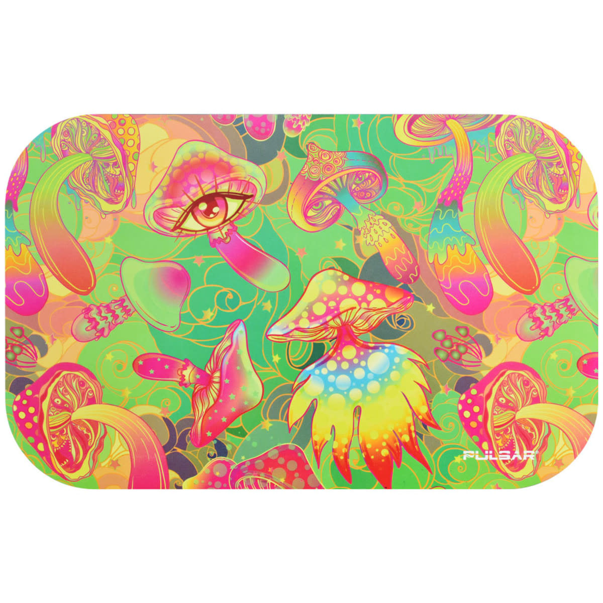 """Pulsar Magnetic Tray Lid 11"""" x 7"""" Watchful Shrooms"""
