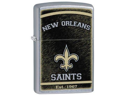 Zippo Lighter NFL New Orleans Saints Street Chrome