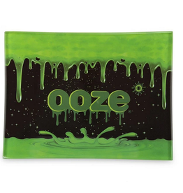 OOZE Shatter Resistant Glass Rolling Tray Ooze Logo Small