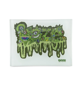 OOZE Shatter Resistant Glass Rolling Tray Oozemosis Small