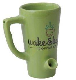 Ceramic Mug Pipe 8oz Green Wake n Bake