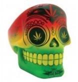"3.5"" Rasta Sugar Skull Ashtray"