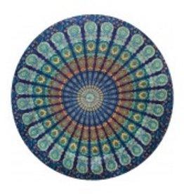 THREADHEADS Peacock Mandala Round Tapestry