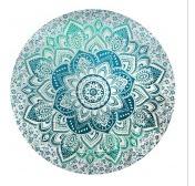 THREADHEADS Lotus Mandala Round Tapestry
