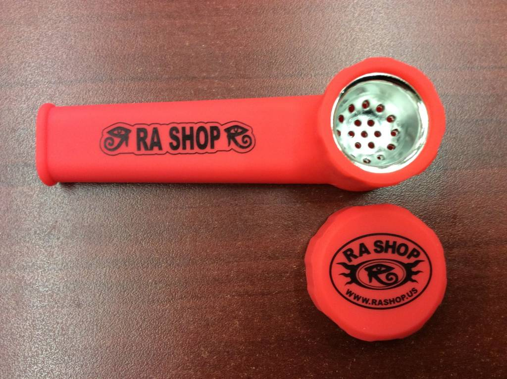 RA SHOP Silicone Hand Pipe Red