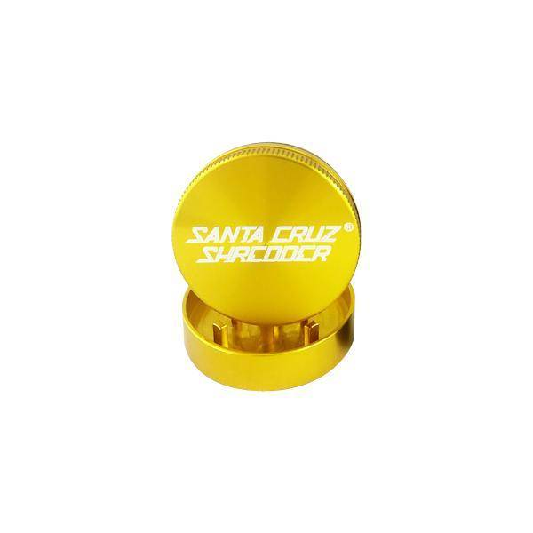 """SANTA CRUZ Grinder LG 2pc 2 3/4"""" Gold"""