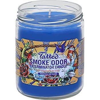 SMOKE ODOR Candle Tatted