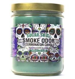 SMOKE ODOR Candle Sugar Skull