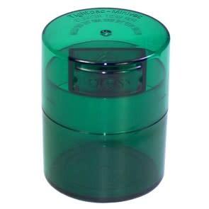 Minivac 0.12 liter Green Tint Cap/Green Tint Body