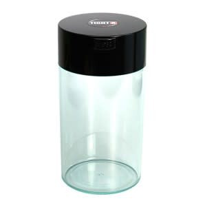 Tightvac 1.3 liter Black Cap/Clear Body