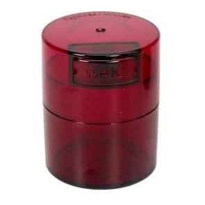 Minivac 0.12 liter Red Tint Cap/Red Tint Body