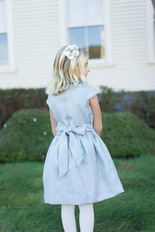 Busy Bees Anna Silver Sparkle Dress