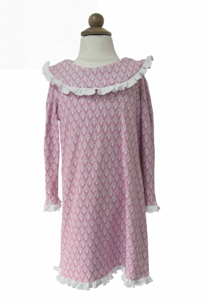 Lila & Hayes Madeline Pink Trees Dress