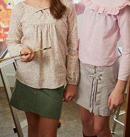 Bella Bliss Hunter Cord Skirt