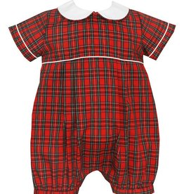 Petit Bebe Red Plaid Bubble