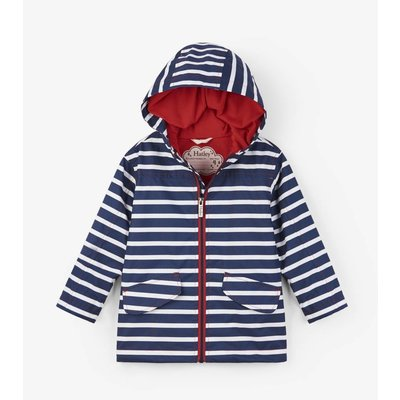 Hatley Navy Stripe Microfiber Raincoat