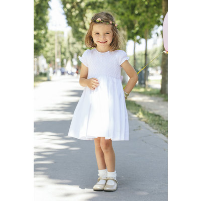 Antoinette Paris Faustine White & Pink Dress