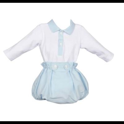 Luli & Me Blue Bodysuit Set