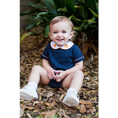 Lullaby Set Navy Knit Bubble Pumpkin