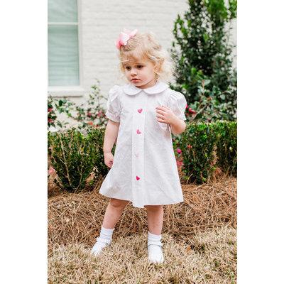 Lullaby Set Blue Dot Pink Heart Dress
