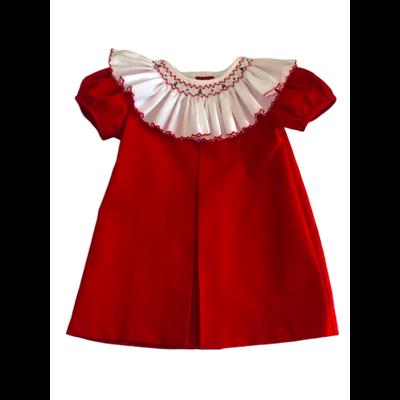 Lulu Bebe Ally Red Smock Dress