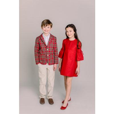 Dondolo Frances Girl Dress Red