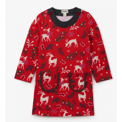 Hatley Mistletoe Deer Mod Dress
