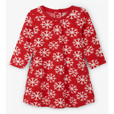 Hatley Falling Snowflakes Swing Dress
