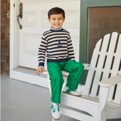 Nantucket Kids Twill Trousers Greenwich Green